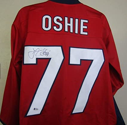 2f183aed3 Image Unavailable. Image not available for. Color  Tj Oshie Autographed  Signed Washington Capitals Jersey Beckett Coa ...