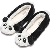 Garatia Women's Plush Winter Warm Animal Soft Cute Home Slippers Dog