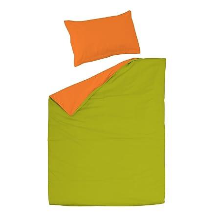 Copripiumino Verde Acido.Soulbedroom Arancio Verde 100 Cotone Biancheria Da Letto