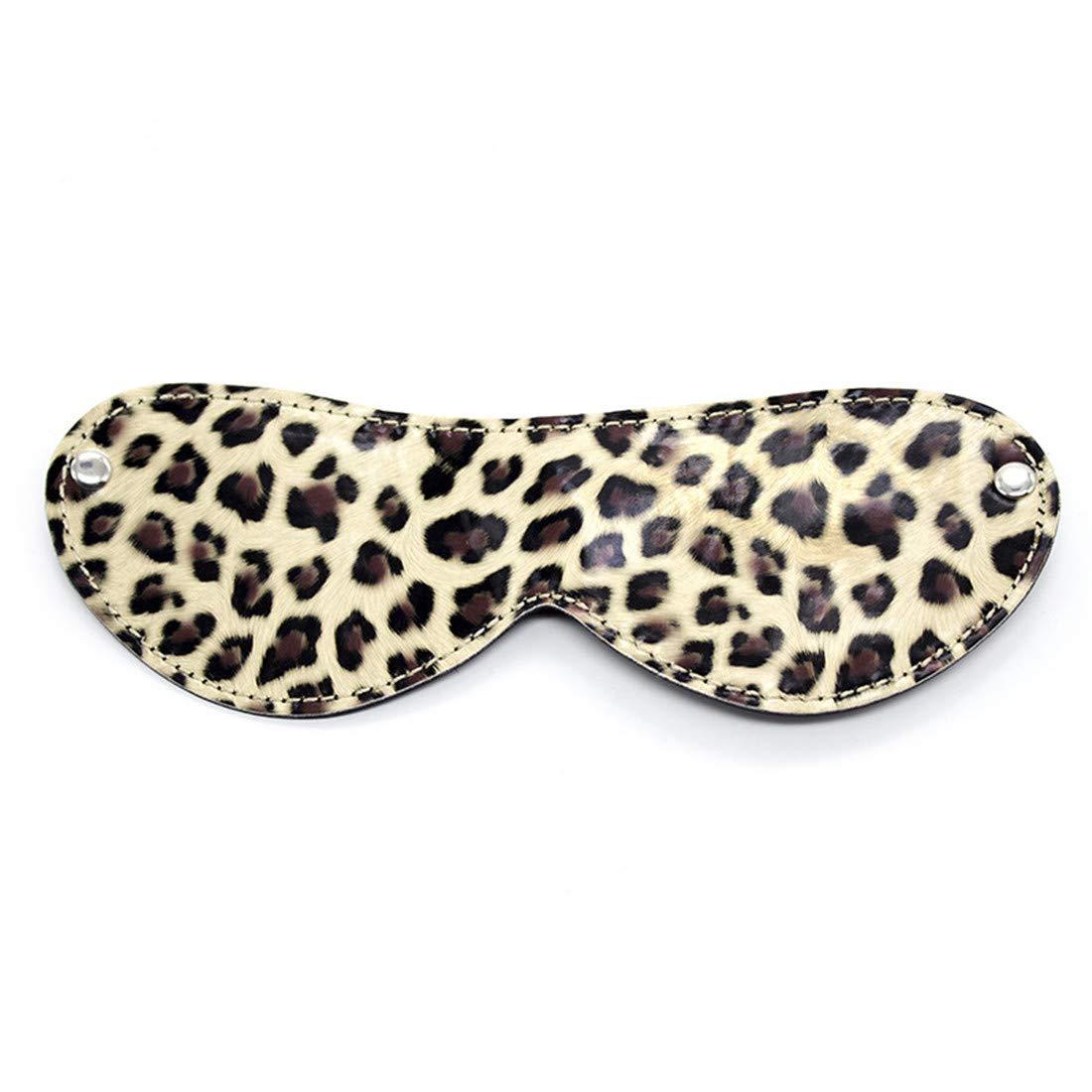 Igspfbjn Esposas con Estampado de Leopardo Puños de Tobillo Juegos para Juegos Tobillo de Pareja de Boudage Sexual, Juego de 8 Piezas 7ef820