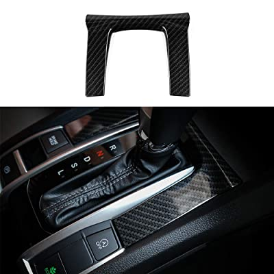 Thenice for 10th Gen Civic ABS Plastic Carbon Fiber Style Gear Panel Trim Shift Box Decoration Cover for Honda Civic 2020 2020 2020 2020 2016 -Automatic Transmission: Automotive
