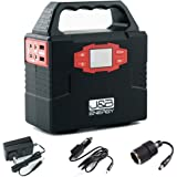 Portable power station 150Wh generator battery bank by J&B Energy, with AC power inverter 110/60Hz, 5V USB ports, 12V DC Port, perfect for camping, emergency, traveling, CPAP