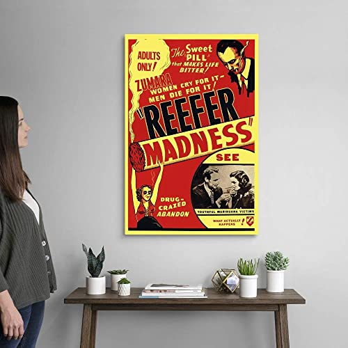 Reefer Madness Red Canvas Wall Art Print