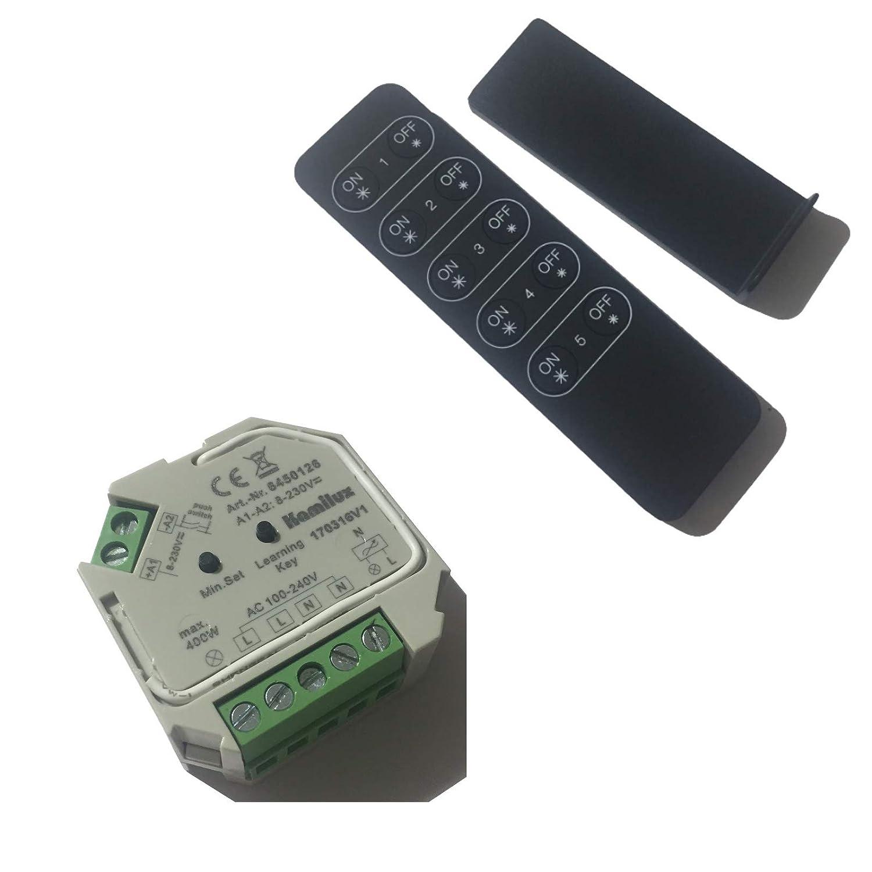 1 Stück Elektronischer LED Funk Dimmer 400 Watt Mit Fernbedienung