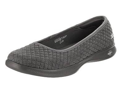 f62e4f6980f1 Skechers GO Step Lite Adored Womens Ballet Flat Skimmers Charcoal 5.5