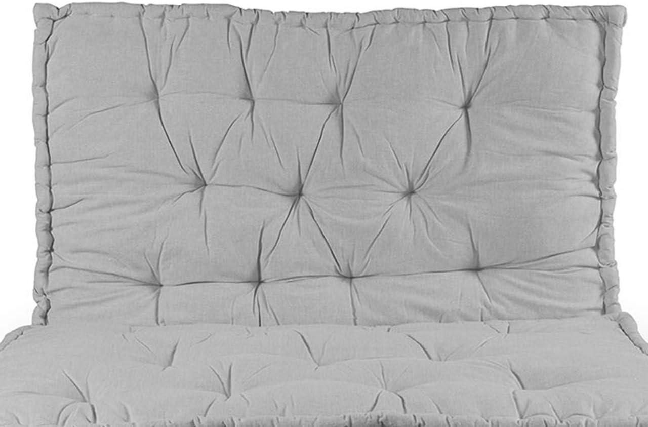 BIANCHERIAWEB Cuscino Mattonella per Seduta-Schienale Divani Pallet Cuscino per Bancale 80x120 Grigio