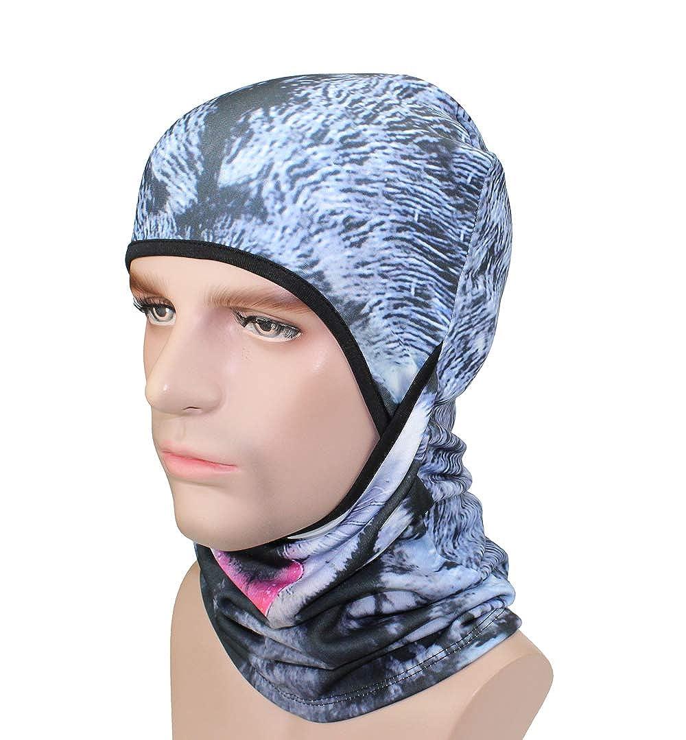 Fleece Winter Ski Balaclavas Face Mask for Sun Protection 3D Animal Hats for Men