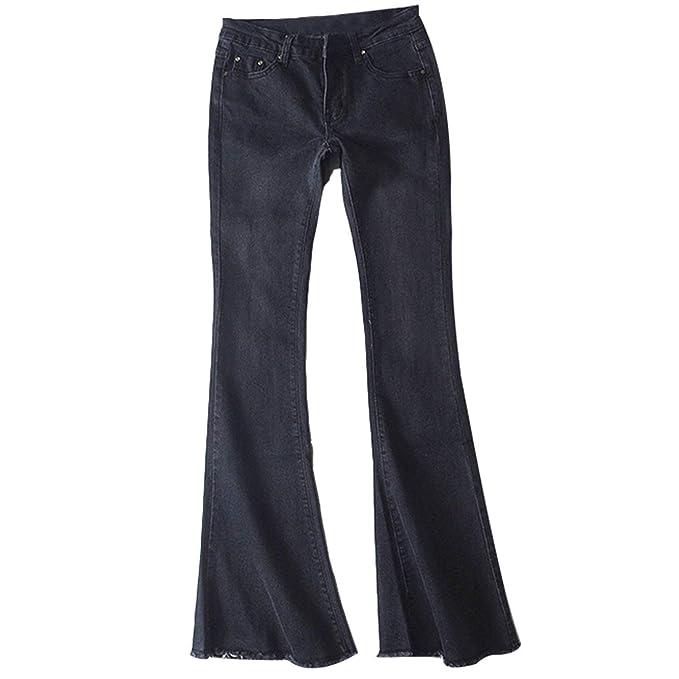 Pantalones Vaqueros De Las Señoras Elegante De Retro Moda ...