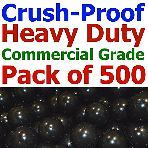 - My Balls Pack of 500 Commercial Grade Black Color Jumbo 3