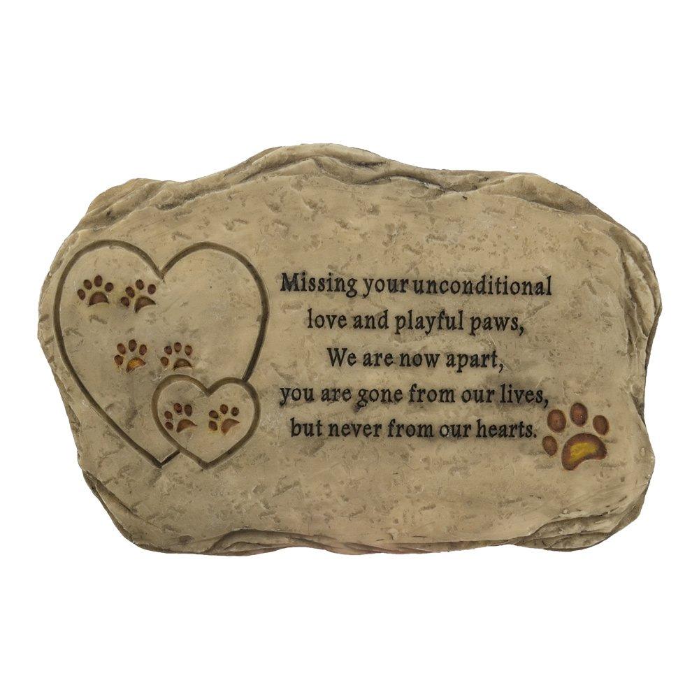 Pet Memorial Stone Outdoor Used Like Garden Backyard Lawn Made with Waterproof Resin(Flat)