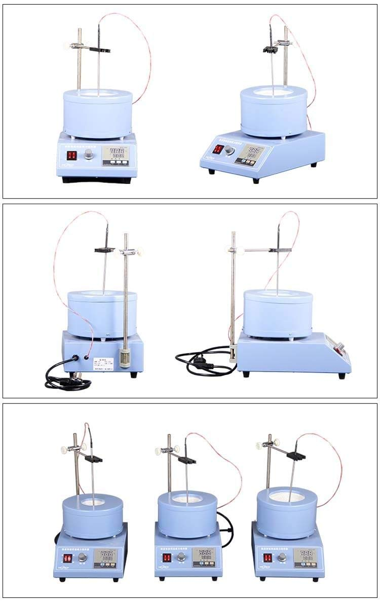 Magnetic Stirrer Hot Plate, High-Speed Magnetic Stirrer Mixer, Heating Magnetic Stirrer Apparatus Thermostatic Thermoregulation for Petrochemical Engineering Lab (100ML)