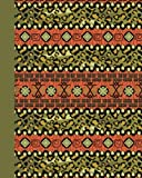 Sketch Journal: Tribal Pattern (Green) 8x10 - Pages are lightly lined with EXTRA WIDE RIGHT MARGINS for sketching, drawing, and writing (8x10 Patterns & Designs Side Sketch Journal Series)