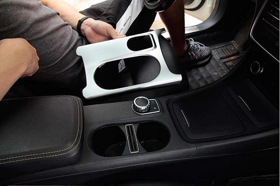 Couvercle de porte-gobelet en ABS chromé mat pour A/GLA/CLA Classe C117 W117 W176 X156 2012-2017 AMG accessoire de voiture