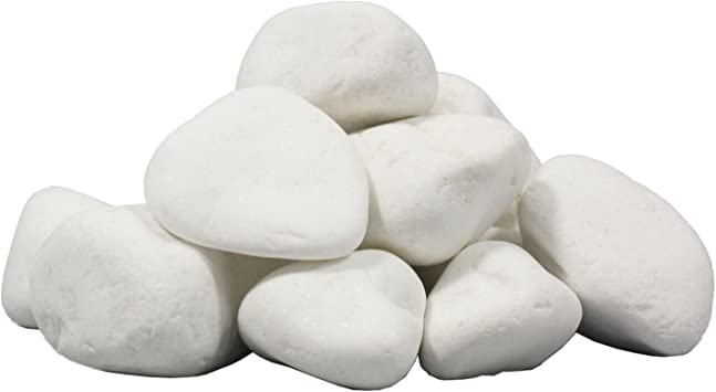 Piedras decorativas blancas para biochimeneas 5kg al.6 piezas: Amazon.es: Bricolaje y herramientas