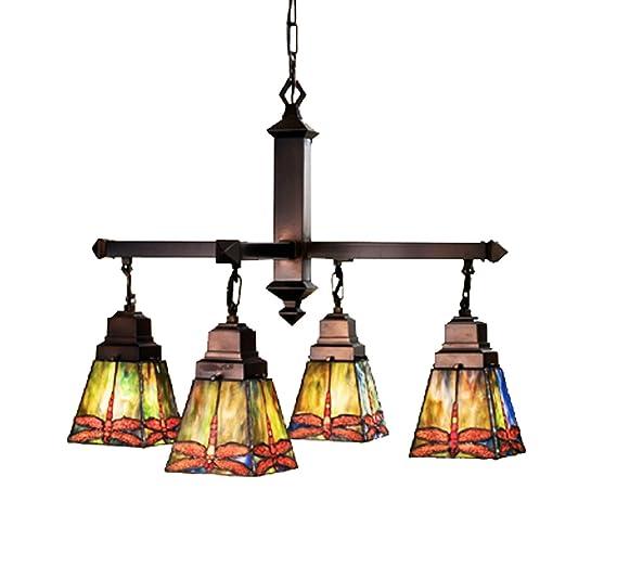 Amazon.com: Meyda 48035 Tiffany vidrieras/Tiffany 4 Light ...