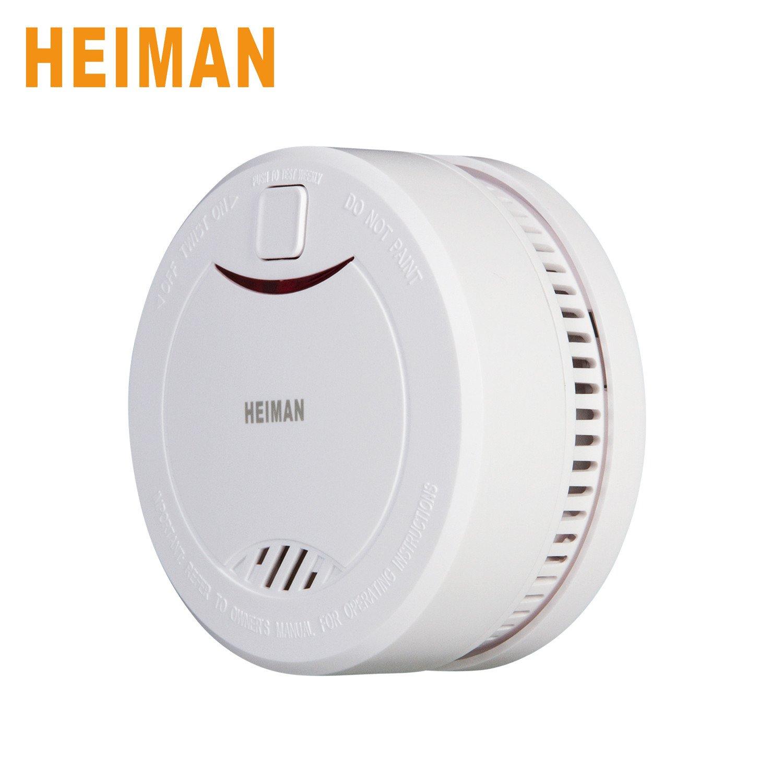 heiman® 10 años litetime construido en batería de litio Independiente Detector de humo detector de humo alarma de incendios con sensor fotoeléctrico ...