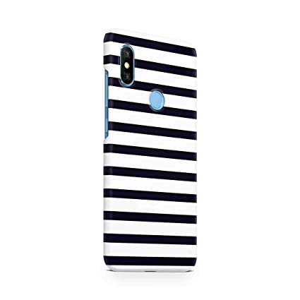 separation shoes 41845 134a6 Cover Affair Stripes Printed Designer Slim Light Weight Back Cover Case  Compatible with Xiaomi Redmi Note 6 Pro (Black & White) (G3-D174)