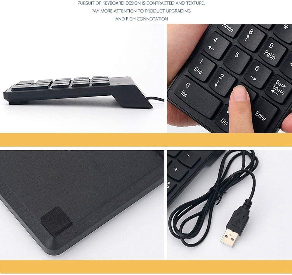LEVEL GREAT USB Wired tastierino numerico della Tastiera Digitale Notebook Tastiera 19 Tasti a Basso Rumore Laptop Numero Slim Pad