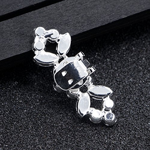 2PCS Fashion Crystal Rhinestone Shoe Clips Shoes Decoration Charms Shoe Buckle for Women Girls Party Bridal Wedding by Fodattm (Image #2)