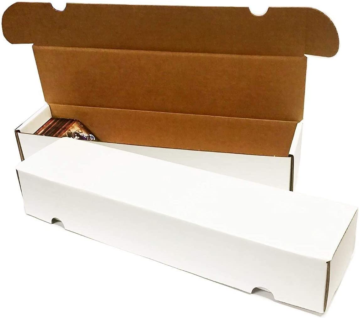 (8) - 660 Count Corrugated Cardboard Storage Boxes durch Max Pro für Baseball, Football, Basketball, Hockey, Nascar, Sportscards, Gaming & Trading Cards Collecting Supplies