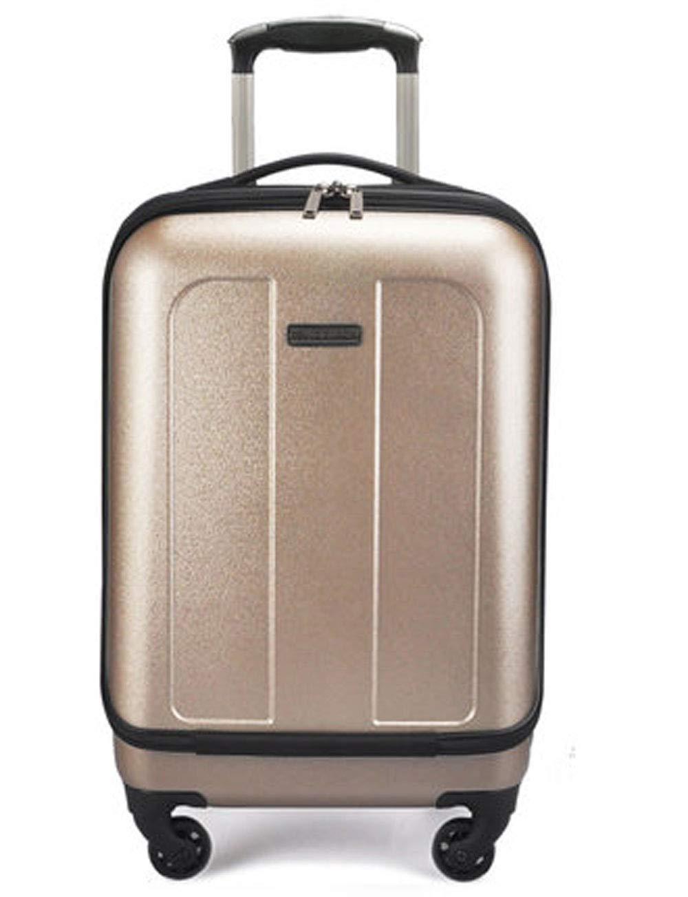 拡張ビジネスハードシェルPCの荷物、コンピュータバッグのデザイン、アルミニウム合金レバー、サイレントローラー、シャーシへのパスワード (色 : ゴールド)   B07GSXH2S8