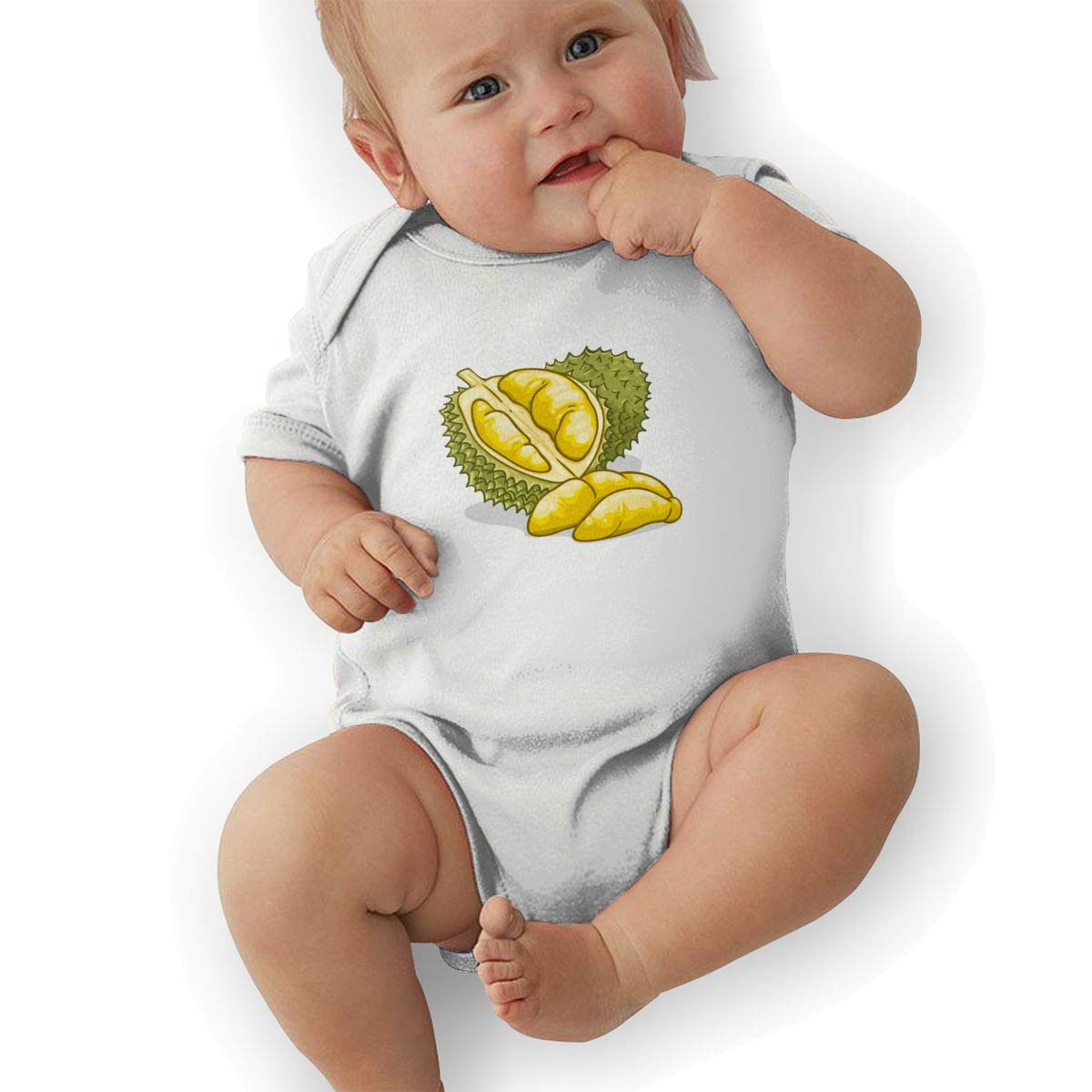 HappyLifea Durian Clipart Cartoon Newborn Baby Short Sleeve Romper Infant Summer Clothing