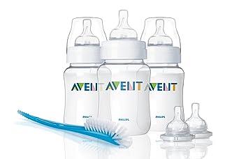 Recién Nacido Bebé Alimentación Botella Starter Set Avent Classic
