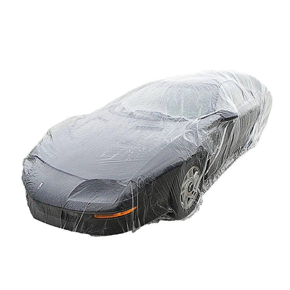 Signstek Disposable Plastic Car Cover---Dust Cover/ Rain Cover/ Paint Cover/ ---for All Cars (Medium) 4336324838