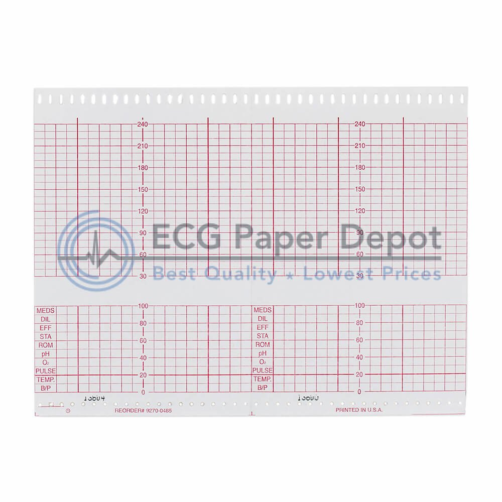 HP Compatible 9270-0485 Fetal Monitoring Recording Chart, 40 Pads Per Case by HP Hewlett Packard (Invent) (Image #1)