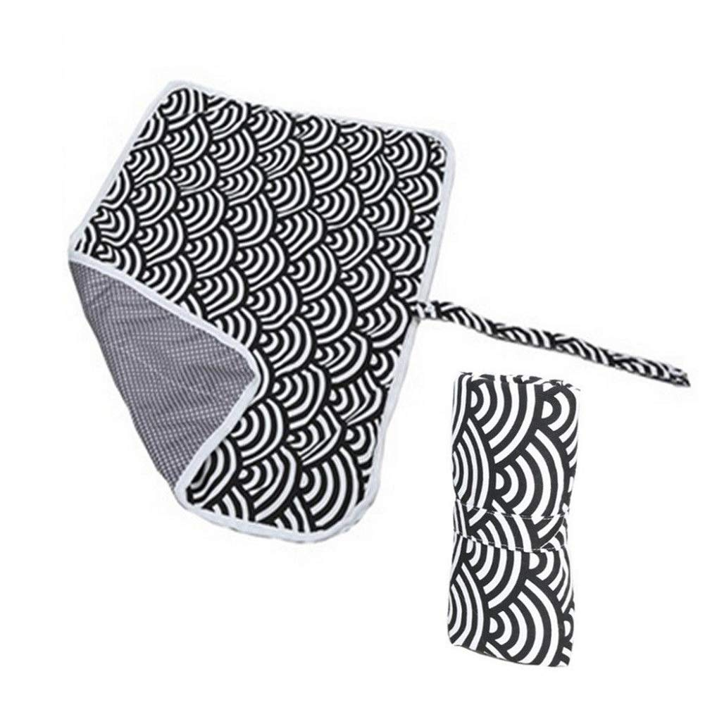Portable Nappy Change Mat, Aerobin Waterproof Foldable Diaper Changing Pad Infant Cotton Urinal Mat for Home Travel Outside