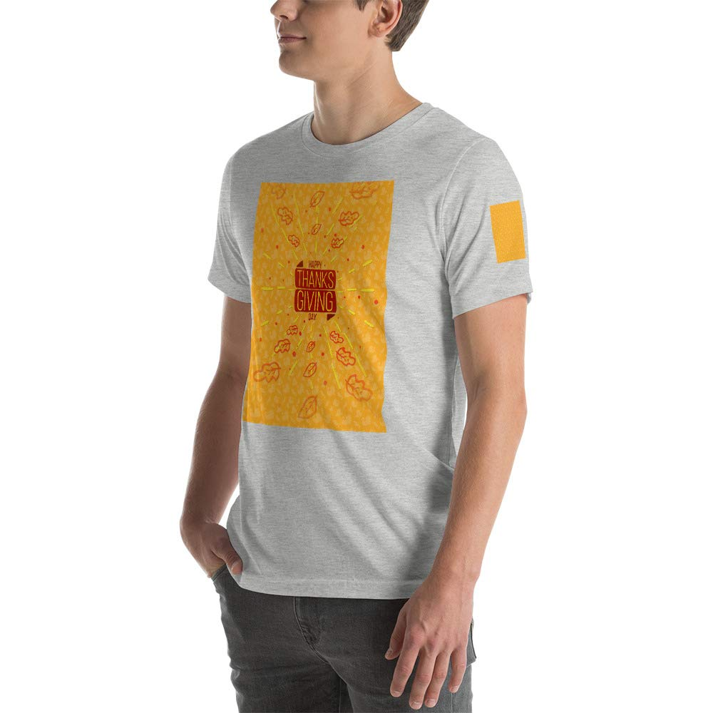 Happy Thanksgiving Day Duck Mens Ultra 100/% Cotton Short Sleeve T-Shirt 3001