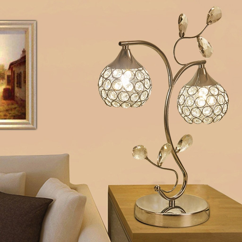 Edge To Table Lamp LED Creative Crystal Table Lamp Decoration Bedroom Bedside Lamp Desk Lamp Luxury Crystal Light