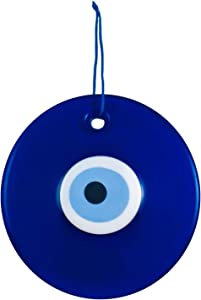 Ekayist Turkish X-Large Blue Evil Eye Wall Hanging Ornament - Home Decor Protection - Nazar Boncuk Amulet and Home Blessing Charm - Wall Art Talisman and Good Luck