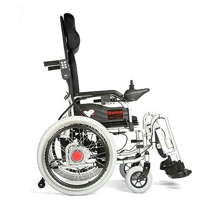 Jiamuxiangsi- Silla de Ruedas eléctrica, Silla de Ruedas Plegable para Personas Mayores con discapacidad