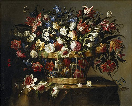 [The High Quality Polyster Canvas Of Oil Painting 'Arellano Juan De Cesta De Flores Ca. 1670 ' ,size: 20 X 25 Inch / 51 X 63 Cm ,this Reproductions Art Decorative Prints On Canvas Is Fit For Gym Gallery Art And Home Decor And] (C Viper Costumes)