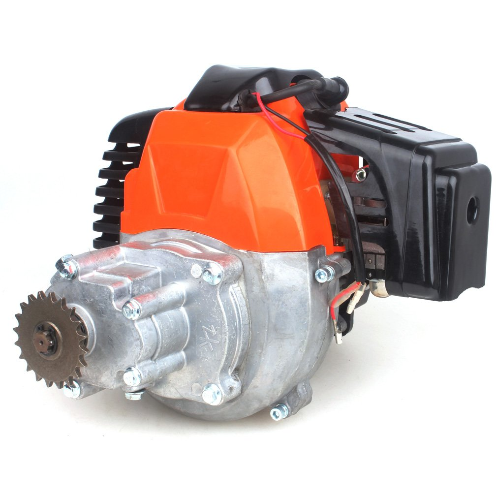 Wingsmoto 49cc Engine w/Gear Reduction Transmission for Pocket Bike Gas Scooter Mini ATV 20T T8F Sprocket ScooterX Dirt Dog Xracer