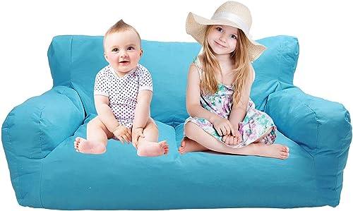 KARMAS PRODUCT Large Bean Bag Sofa Chair Self-Rebound Sponge Couch Seat 51″x32″x18″ Blue