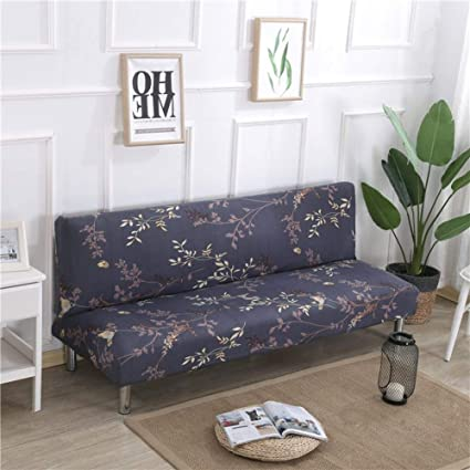Phenomenal Lovehouse Surefit Armless Sofa Bed Covers Sofa Cover Stretch Polyester Printed Stain Resistant Sofa Slipcover Protector For 2 3 4 Seat Couch Living Download Free Architecture Designs Scobabritishbridgeorg