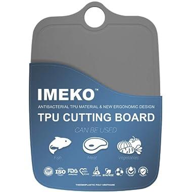 IMEKO New 2019 Kitchen Ergonomic Design TPU Cutting Board - Flexible, Food Safe, BPA free Chopping Mat 13.7  x 9.4