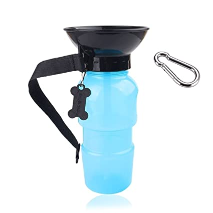 Dog Water Bottle, Portable No Spill 18 Oz Puppy Drinking Dispenser - Dog Feeding Water