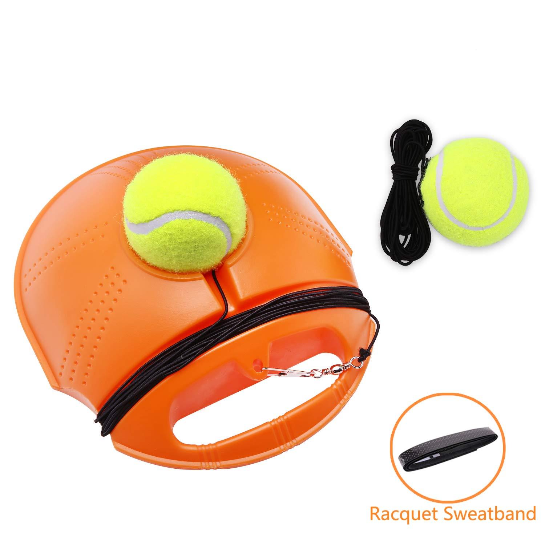 JUOIFIP Tennis Trainer Set Rebound Baseboard, Fill & Drill Tennis Self-Study Practice Training Tool Equipment Sport Exercise Beginner 2 Balls