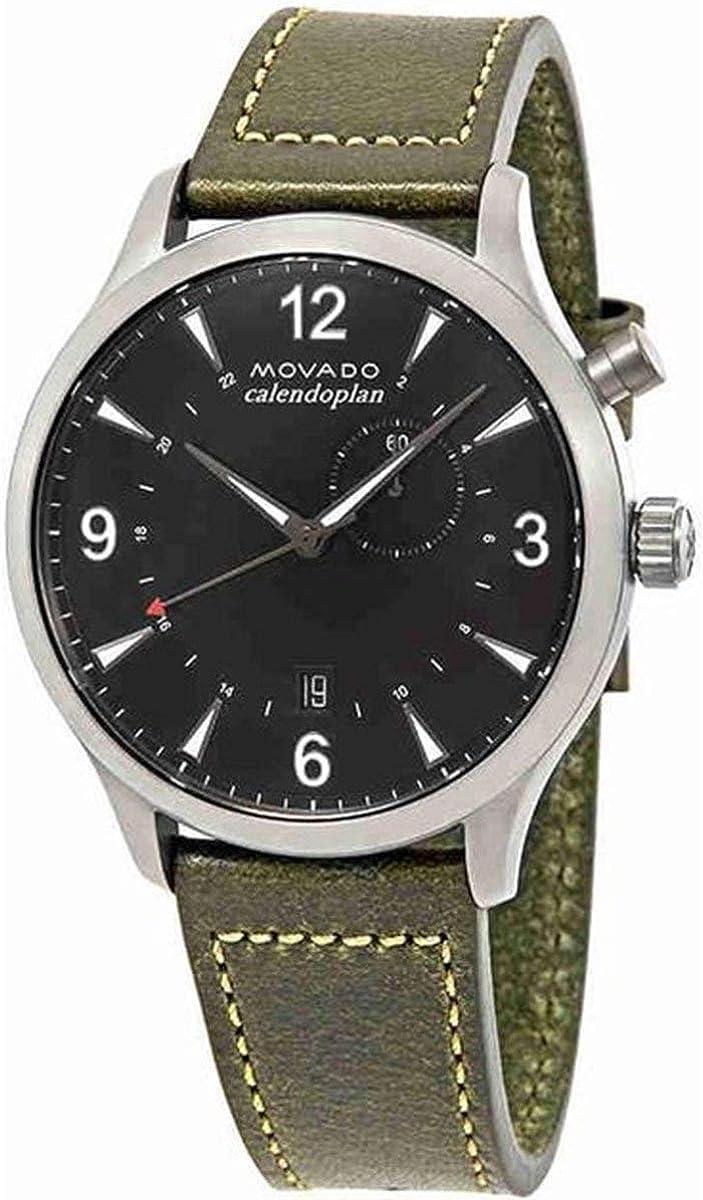 Movado Heritage Black Dial Men s Watch 3650019