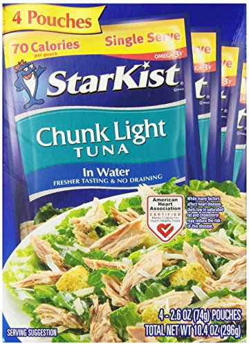 - StarKist Chunk Light Tuna in Water - 2.6 Ounce Pouch (Pack of 4)