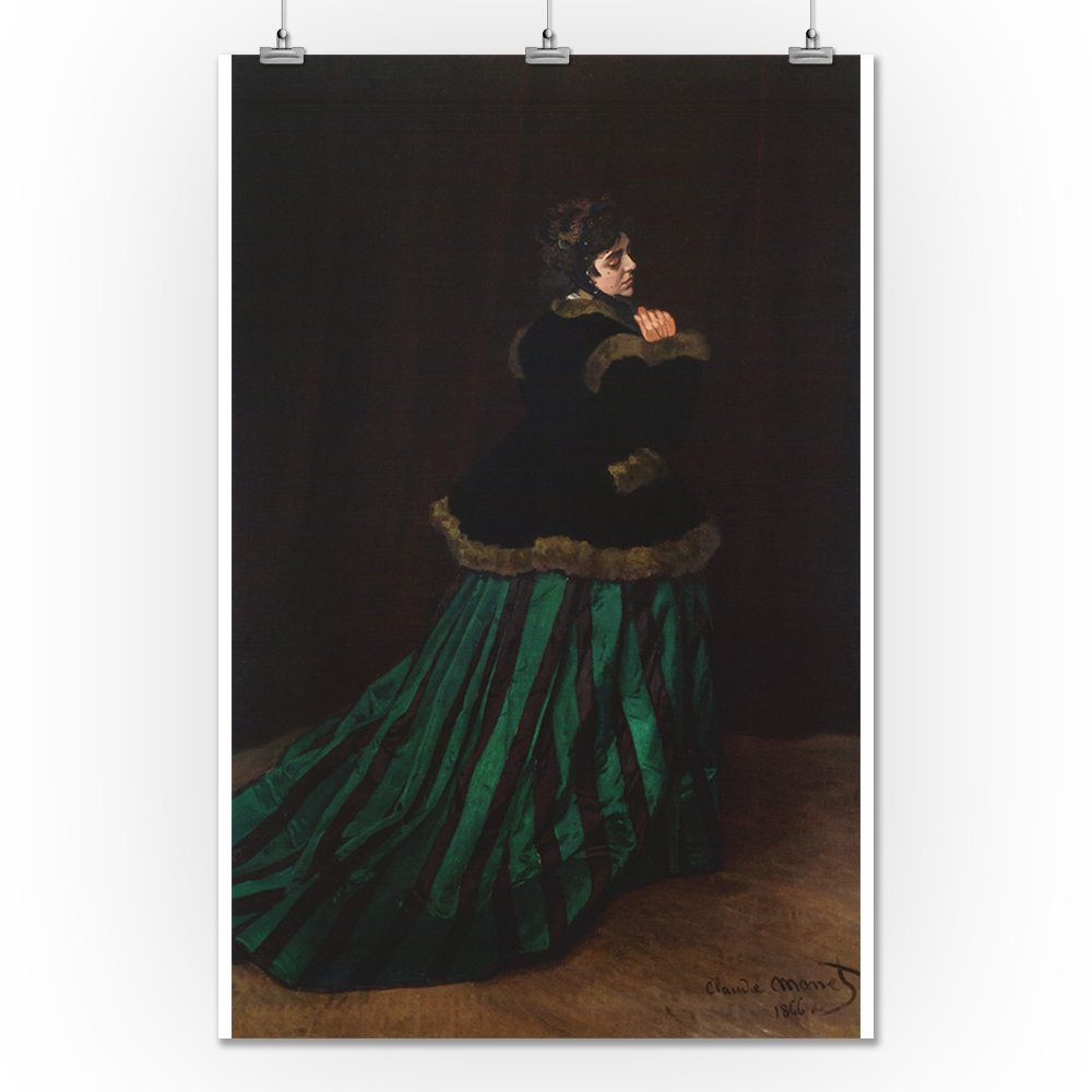 1866 Camille Artist: Claude Monet c 24x36 Giclee Gallery Print, Wall Decor Travel Poster Masterpiece Classic