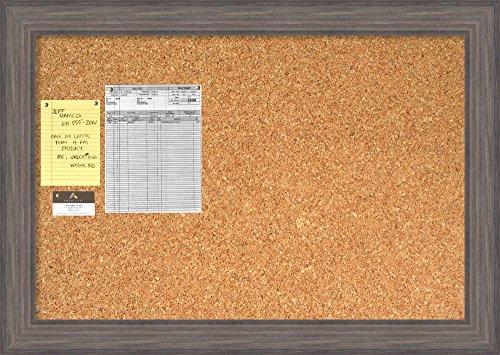 Framed Natural Cork Board Bulletin Board | Natural Cork Boards Country Barnwood Frame | Framed Bulletin Boards | 41.25 x 29.25