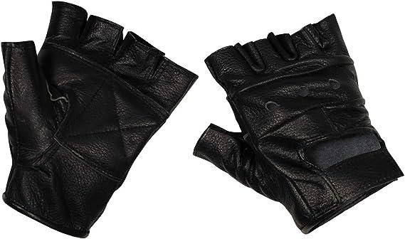 Lederhandschuhe ohne Nieten /& Finger Handschuhe Fingerlos Schwarz S-XXL