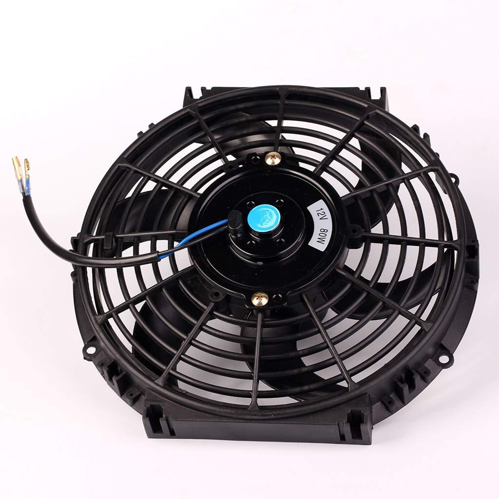 12 pulgadas 12 V 10 para radiador de coche delgado Meatyhjk ventilador de refrigeraci/ón de motor el/éctrico de 10 pulgadas universal 14 pulgadas