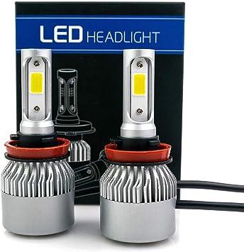 9005 Ultra Bright 9005 HB3 COB LED Headlight Fog Light Bulbs Conversion Kit 6000K Super White 12000 Lumens HB3