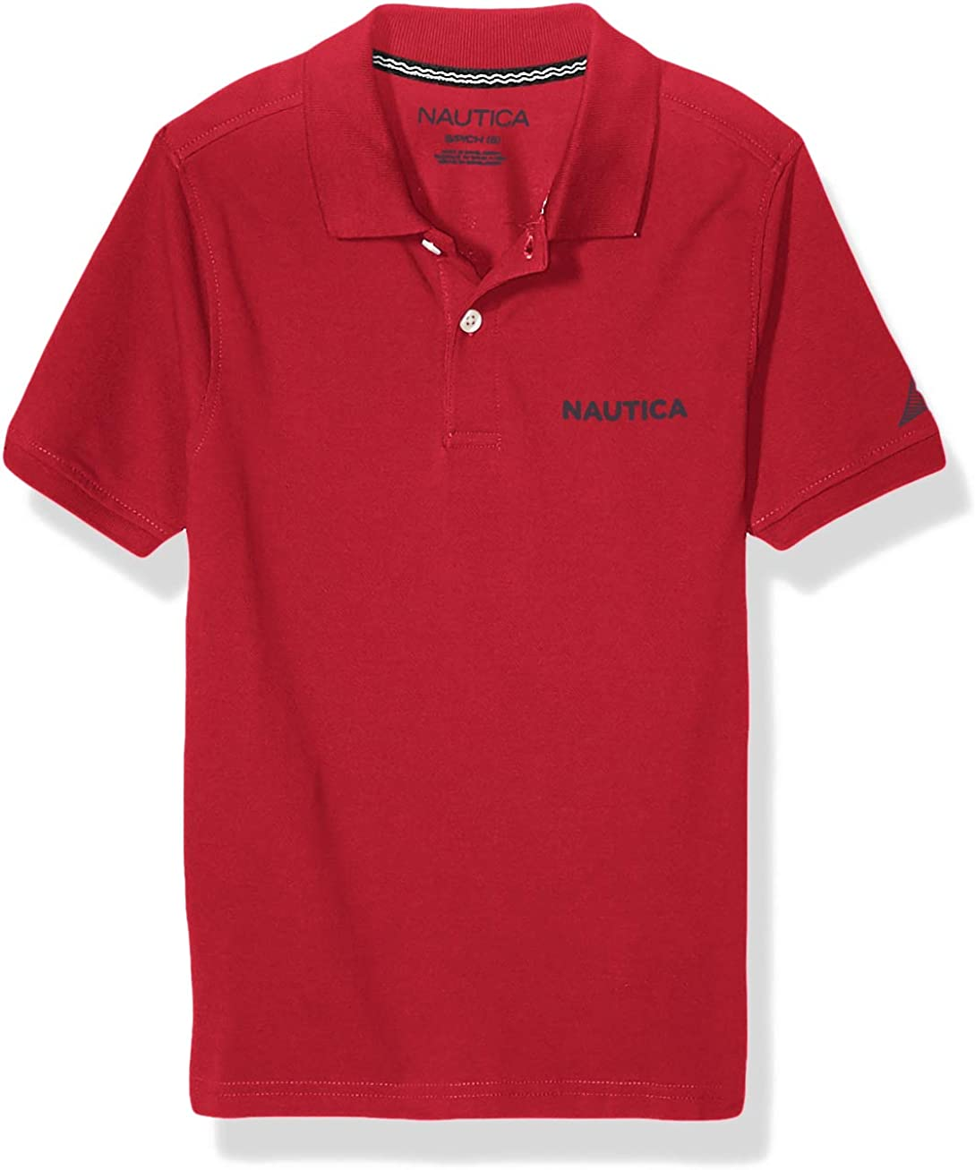 Nautica Boys Scripted Chest Logo Polo