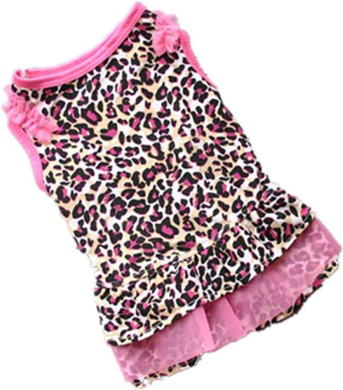 Fabal Summer Casual Pet Dog Clothes Puppy Apparel for Small Dogs Leopard Print